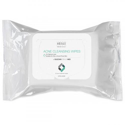 Очищающие салфетки SUZAN OBAGI MD Acne Cleansing Wipes 25 штук для проблемной и жирной кожи